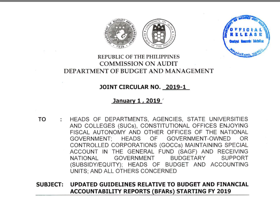 Budgeting Update] GUIDELINES ON THE APPROPRIATION, RELEASE, PLANNING